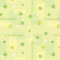 包装紙 四才判 ハッピークローバー 49-514 1セット(50枚包み) タカ印 (取寄品)