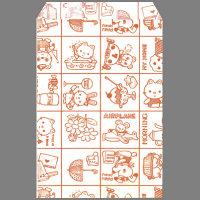 ギフトバッグ 平袋 幅105×高さ150mm ファンシーあか 1袋(200枚入) タカ印 (取寄品)