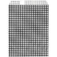 ギフトバッグ 平袋 幅140×高さ180mm ギンガムくろ 1袋(200枚入) タカ印 (取寄品)