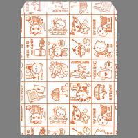 ギフトバッグ 平袋 幅140×高さ180mm ファンシーあか 1袋(200枚入) タカ印 (取寄品)
