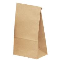 ギフトバッグ 角底袋 大 未晒 1袋(100枚入) タカ印 (取寄品)