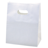 イーグリップ 幅180×マチ105×高さ225mm,穴から下-高さ165mm 白 1袋(50枚入) タカ印 (取寄品)