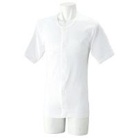 紳士半袖ホックシャツ ホワイト M 39955-01 1セット(2枚組) (取寄品)