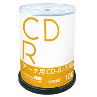 日立マクセル データ用CD-R スピンドルケース 1パック(100枚入) インクジェットプリント対応