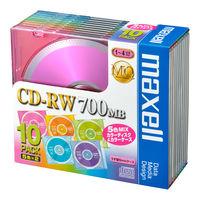 日立マクセル データ用CD-RW 5mmプラケース 1パック(10枚:5色入×2枚) プリント非対応 CDRW80MIX.1P10S