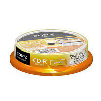 ソニー CD-R 700MB スピンドルケース 1パック(10枚)インクジェットプリント対応 10CDQ80GPWP