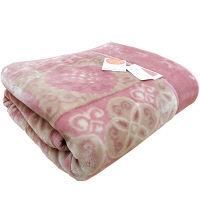 2枚あわせ毛布 アラベスク ピンク