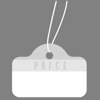 ササガワ タカ印 提札 カバン型 シルバー 18-1914 1箱(500枚入) (取寄品)