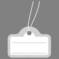 ササガワ タカ印 提札 カバン型 シルバー 18-1916 1箱(500枚入) (取寄品)