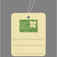 タカ印 提札 四つ葉のクローバー 18-3740 1箱(500枚入) (取寄品)