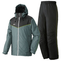 LIPNER(リプナー) 防水防寒スーツ オーウェン25 チャコール LL 1セット(ジャケット・パンツ) LOGOS(ロゴス) (取寄品)