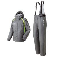 LIPNER(リプナー) 油に強い防水防寒サロペットスーツ・ラードナー21 グレー L 1セット(ジャケット・パンツ) LOGOS(ロゴス) (取寄品)