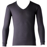 インナーシャツ ホットシャツ Vネック 9分袖 メンズ M フットマーク (取寄品)