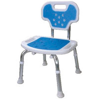 美和商事シャワーチェア 背付き BC-01XH-BL ブルー (取寄品)