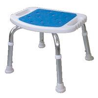 美和商事シャワーチェア 背なし BC-01XN-BL ブルー (取寄品)