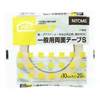 ニトムズ 一般両面テープ S 0.12mm×10mm×20m J0680 1箱30巻入