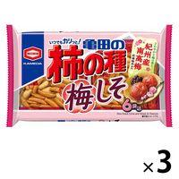 亀田の柿の種梅しそ6袋詰 182g 3袋