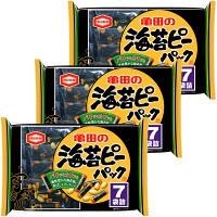 亀田製菓海苔ピーパック7袋詰124g3袋