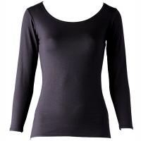 インナーシャツ ホットシャツ クルーネック 9分袖 レディス LL フットマーク (取寄品)