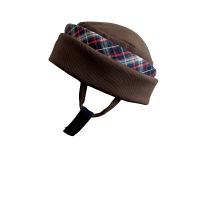 特殊衣料アボネットガードF(全周囲型) 2101 ブラウン(赤チェック) (取寄品)