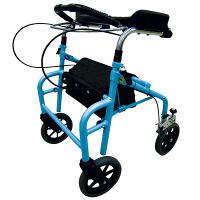 歩行車 ウェルパートナーズ ラビット座面なしタイプ(スモール/狭幅・低台) WA-1 ブルー (取寄品)