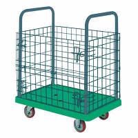 IKキャリー 樹脂製網付台車 耐荷重150kg P107GNS 石川製作所 (直送品)