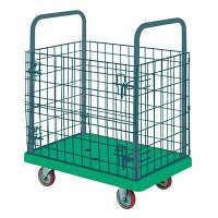 IKキャリー 樹脂製網付台車 耐荷重300kg P307GNS 石川製作所 (直送品)
