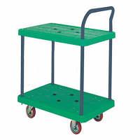 IKキャリー 樹脂製2段台車 耐荷重150kg P104GNS 石川製作所 (直送品)