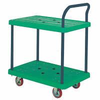 IKキャリー 樹脂製2段台車 耐荷重300kg P304GNS 石川製作所 (直送品)