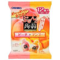 ぷるんと蒟蒻ゼリーパウチピーチ+マンゴー