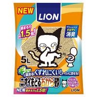 ライオン ペットキレイ ニオイをとるおから砂 5L 1ケース(8袋)