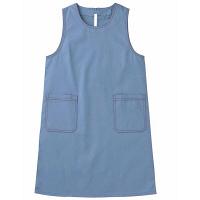 トンボ キラク エプロン ブルー フリー フリーサイズ CR047-75 1枚  (取寄品)
