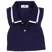 トンボ キラク 消臭ポロシャツ  ネイビー L CR023-88 1枚  (取寄品)