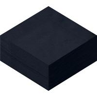 溝端紙工印刷 カラーナプキン 4つ折り 2PLY ブラック 1袋(50枚入)