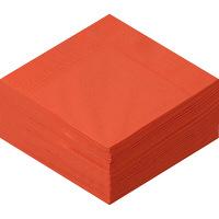 溝端紙工印刷 カラーナプキン 4つ折り 2PLY マンダリン 1袋(50枚入)