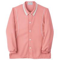 トンボ キラク 前開きニットシャツ ピンク L  L CR832-14 1枚  (取寄品)
