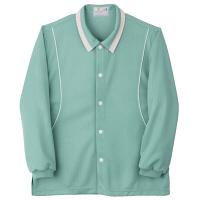トンボ キラク 前開きニットシャツ グリーン L CR832-46 1枚  (取寄品)