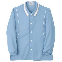 トンボ キラク 前開きニットシャツ サックス L CR832-70 1枚  (取寄品)