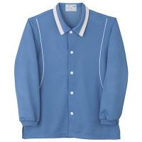 トンボ キラク 前開きニットシャツ ブルー L CR832-85 1枚  (取寄品)