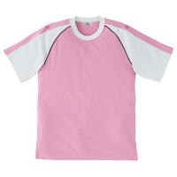 トンボ キラク Tシャツ ピンク 3L CR095-12 1枚  (取寄品)