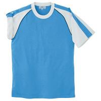 トンボ キラク Tシャツ ブルー M CR095-75 1枚  (取寄品)