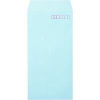 ムトウユニパック ナチュラルカラー封筒 長3 ブルー 1000枚