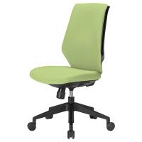 中央可鍛工業 スコルド(SKOLD) オフィスチェア ブラック樹脂メッシュ 背パッド付 肘無し グリーン YC-210FB-GR 1脚 (取寄品)