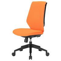 中央可鍛工業 スコルド(SKOLD) オフィスチェア ホワイト樹脂メッシュ 背パッド付 肘無し オレンジ YC-210FW-OR 1脚 (取寄品)