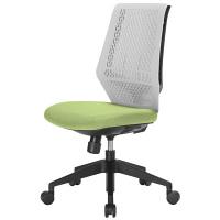 中央可鍛工業 スコルド(SKOLD) オフィスチェア ホワイト樹脂メッシュ 肘無し グリーン YC-210W-GR 1脚 (取寄品)