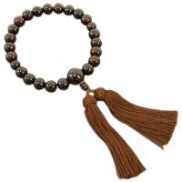 男性用数珠 紫檀 22玉 共仕立 人絹頭付房 中郷 1個 (取寄品)