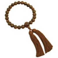 男性用数珠 鉄刀木 22玉 共仕立 人絹頭付房 中郷 1個 (取寄品)