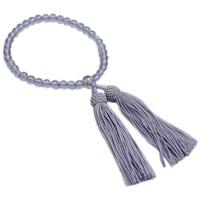 女性用数珠 ハリローズアメジスト 共仕立 人絹頭付房 中郷 1個 (取寄品)