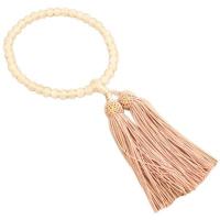 女性用数珠 ローズクォーツ 7mm 共仕立 正絹頭付房 中郷 1個 (取寄品)