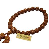 男性用数珠 金剛菩提樹 共仕立 22玉 人絹頭房 中郷 1個 (取寄品)